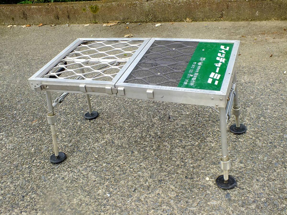 へらぶな用 折り畳みポータブル椅子(アルミ製)デコボコ地面も安定座り≫フィッチャーミニ≪_画像2