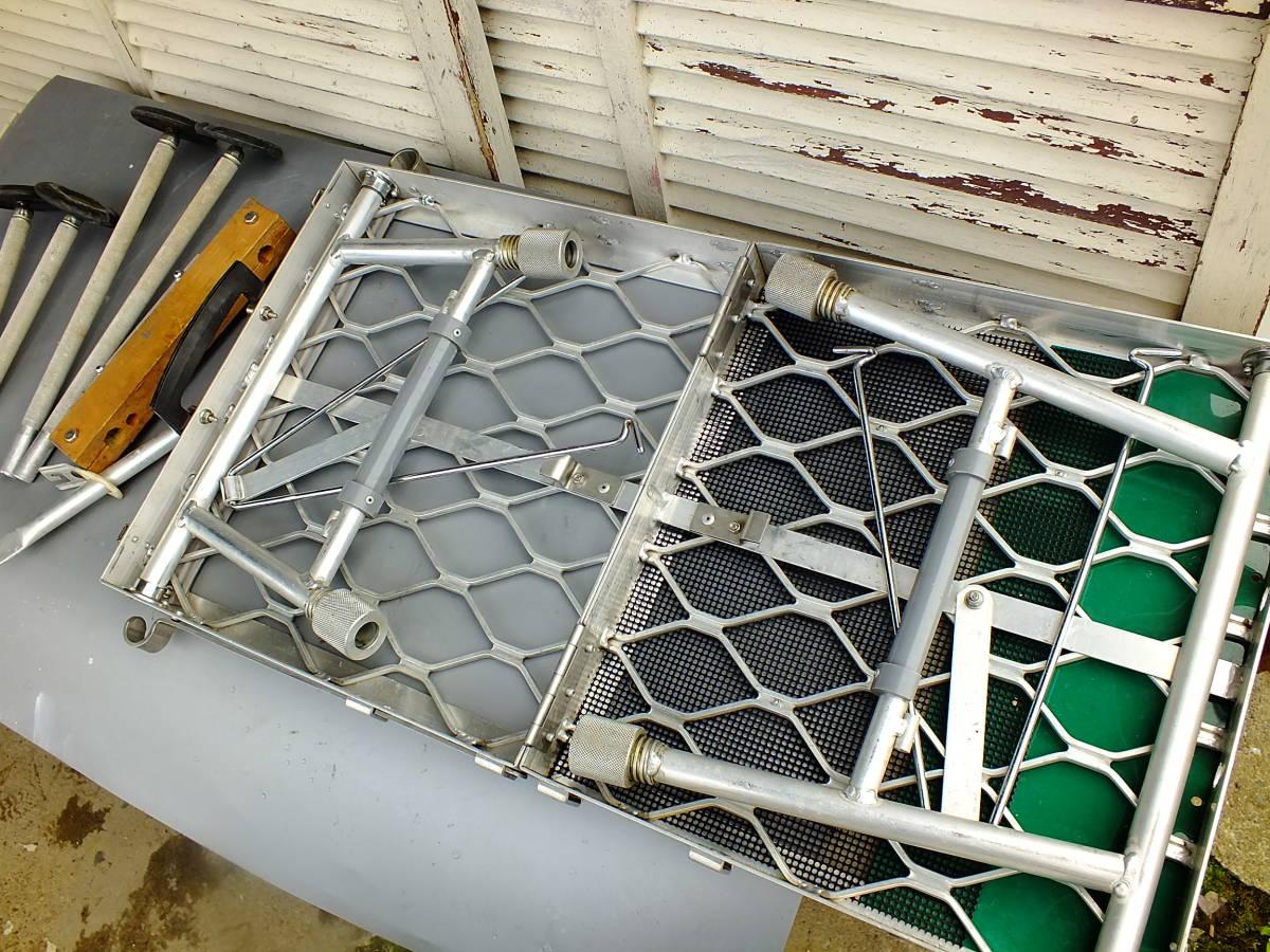 へらぶな用 折り畳みポータブル椅子(アルミ製)デコボコ地面も安定座り≫フィッチャーミニ≪_画像9