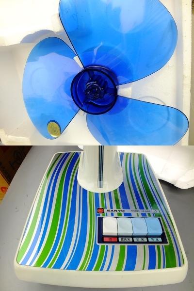 レトロ感満載 1975年(昭和50年) 未使用・サンヨー卓上型扇風機 元箱入り_画像6