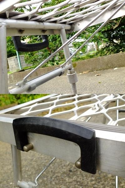 へらぶな用 折り畳みポータブル椅子(アルミ製)デコボコ地面も安定座り≫フィッチャーミニ≪_画像4