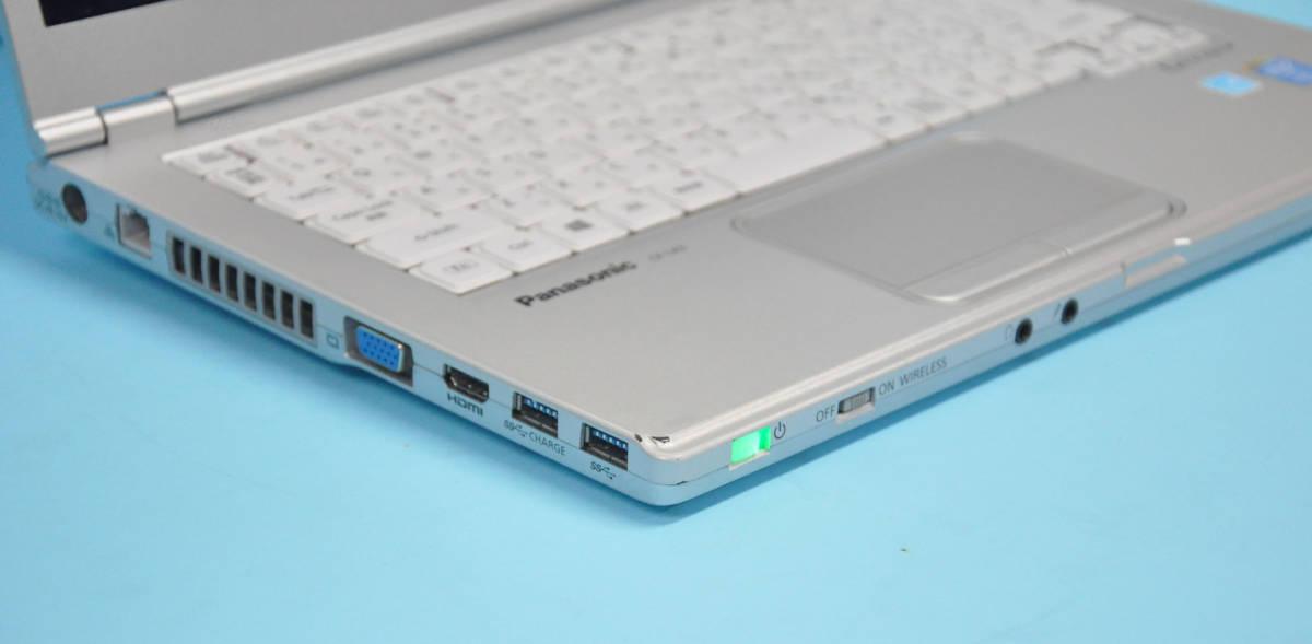 ♪ 美品 使用時間1240H ♪ Panasonic CF-LX3 Corei7-4600U / メモリ 8GB / 新SSD:512GB / カメラ / Bluetooth / Office / Win10_画像6