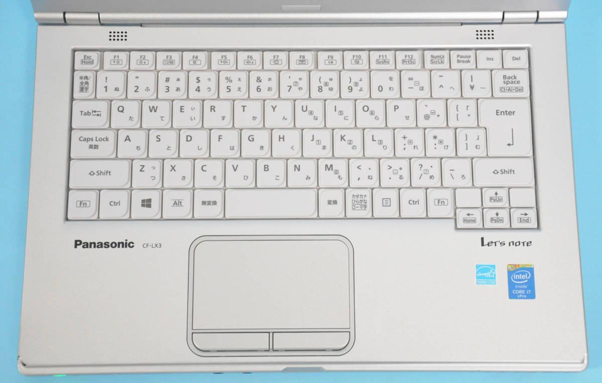 ♪ 美品 使用時間1240H ♪ Panasonic CF-LX3 Corei7-4600U / メモリ 8GB / 新SSD:512GB / カメラ / Bluetooth / Office / Win10_画像2