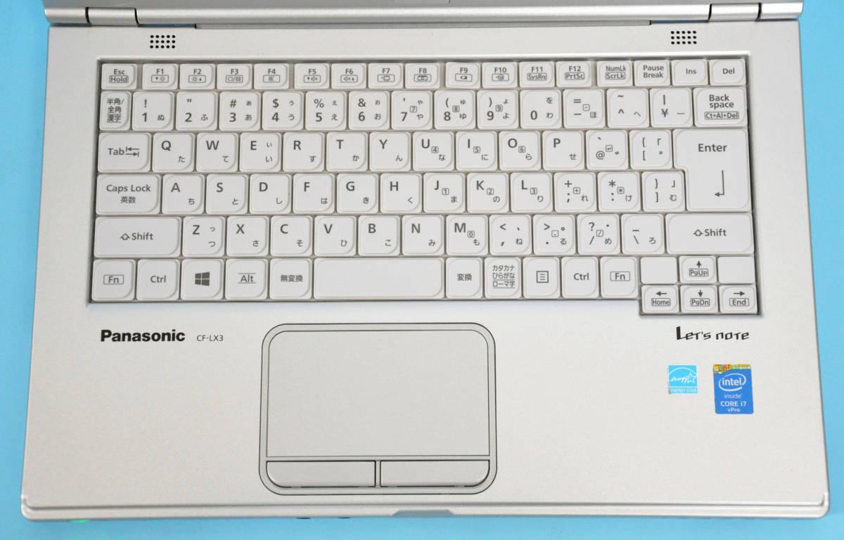 ♪ 良品 Panasonic CF-LX3 ♪ Corei7-4600U / メモリ 8GB / 新SSD:240GB / カメラ / Bluetooth / Office / Win10 _画像2