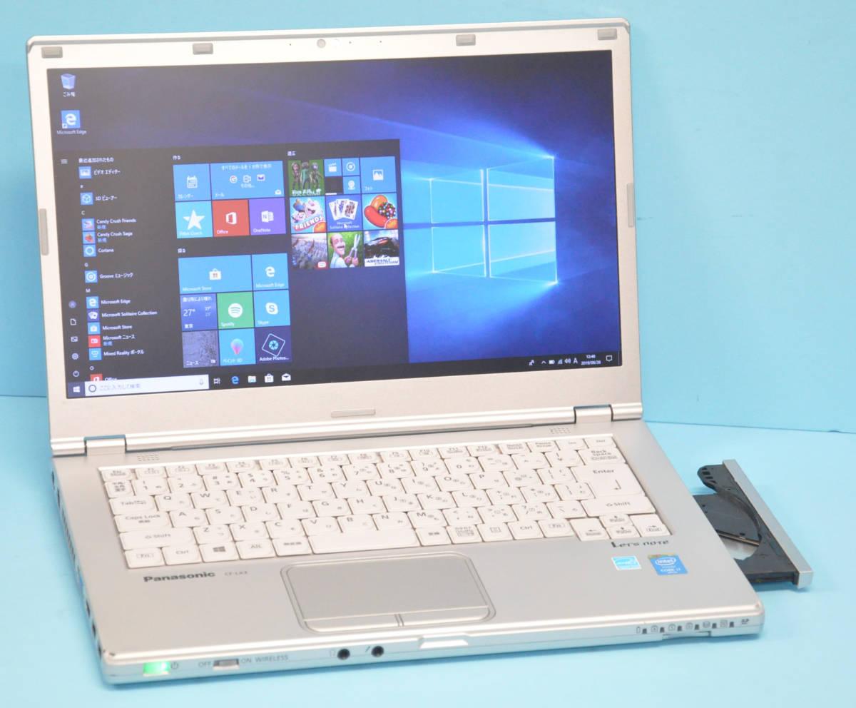 ♪ 美品 使用時間1240H ♪ Panasonic CF-LX3 Corei7-4600U / メモリ 8GB / 新SSD:512GB / カメラ / Bluetooth / Office / Win10