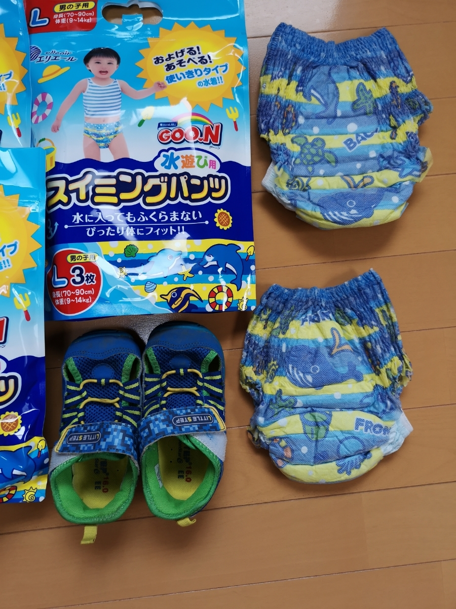 送料無料★水遊びパンツとオムツ★マリンシューズ_画像3