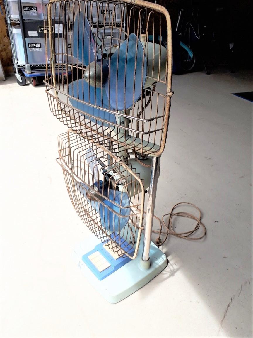 レトロ扇風機 希少 激レア 富士電機 2段式 アンティーク コレクション 中古現状