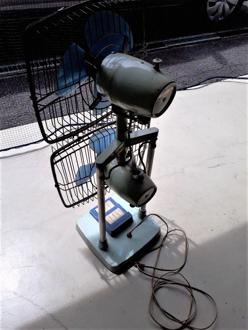レトロ扇風機 希少 激レア 富士電機 2段式 アンティーク コレクション 中古現状_画像2