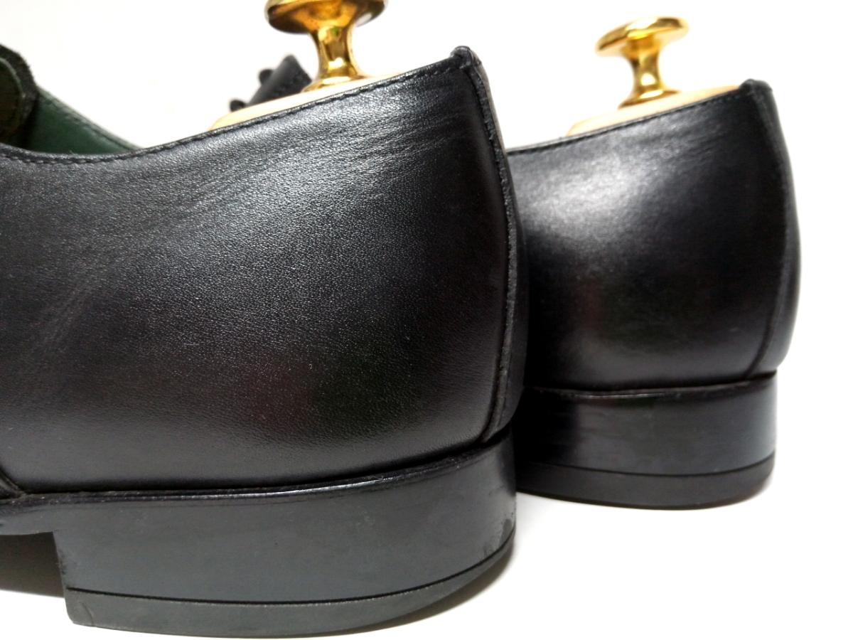 大変美品★【MADRAS GORE-TEX】マドラス ゴアテックス 25cm 黒 ストレートチップ 革靴 ビジネスシューズ レザー ブラウン仕事 靴 メンズ_画像6