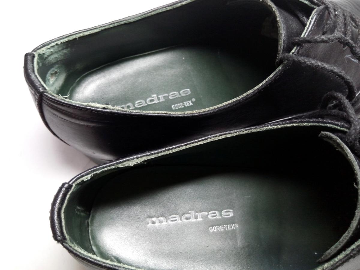 大変美品★【MADRAS GORE-TEX】マドラス ゴアテックス 25cm 黒 ストレートチップ 革靴 ビジネスシューズ レザー ブラウン仕事 靴 メンズ_画像9