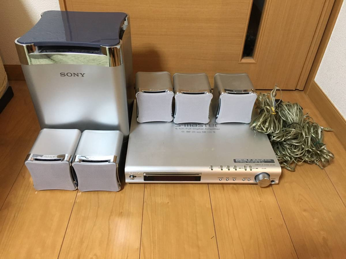 SONY DAV-S550 5.1ch ホームシアターシステム S-master DVD/CDプレーヤー内蔵AVアンプ 難あり_画像1