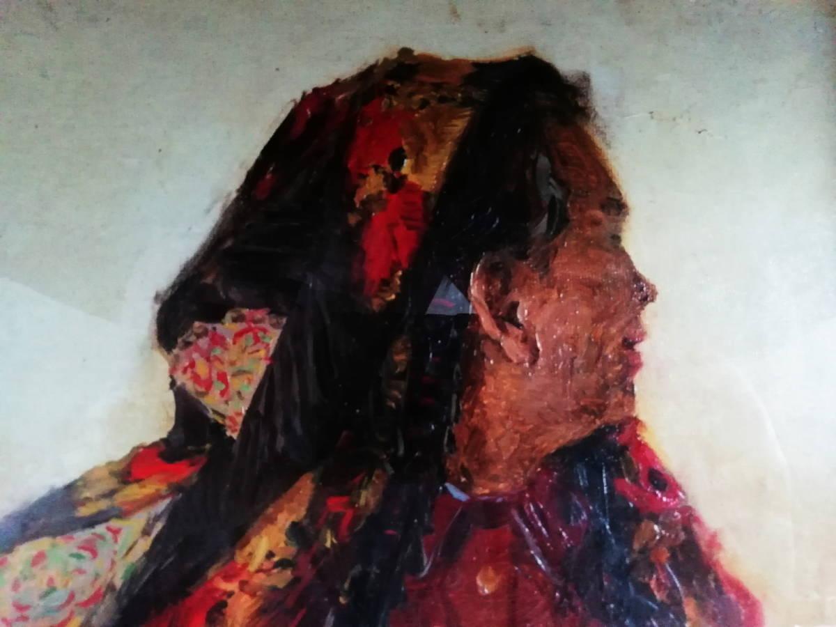【真作】 現代ソビエト絵画 イゴシェフ B・A 「住みなれた小屋へのエチュード」 月光荘取扱い 【管理No.MT14】_画像3