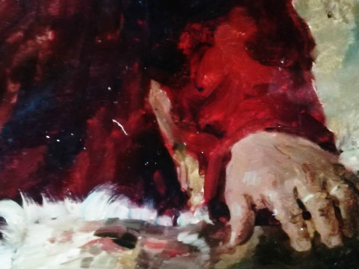 【真作】 現代ソビエト絵画 イゴシェフ B・A 「住みなれた小屋へのエチュード」 月光荘取扱い 【管理No.MT14】_画像5