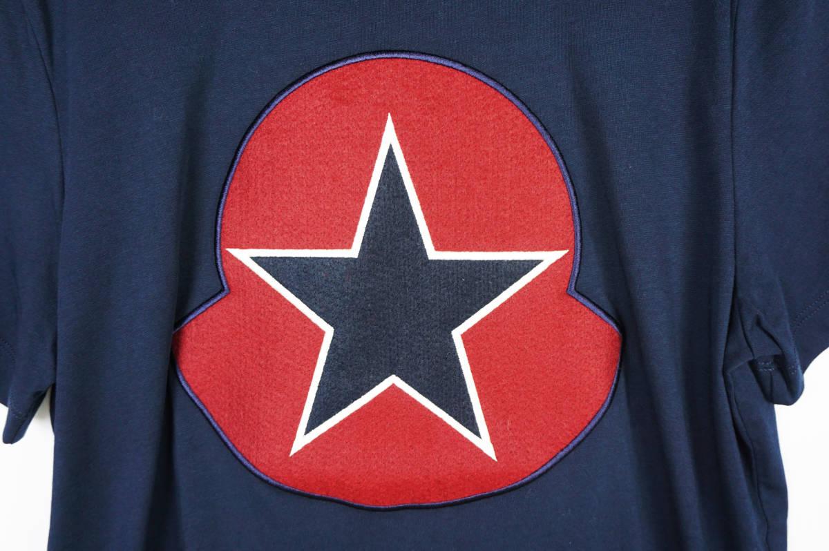 新品同様 希少モデル 国内正規品 モンクレール/ Tシャツ サイズS 刺繍特大ロゴ 最新認証タグ付(管理番号H19)_画像2