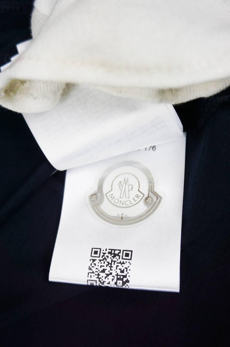 新品同様 希少モデル 国内正規品 モンクレール/ Tシャツ サイズS 刺繍特大ロゴ 最新認証タグ付(管理番号H19)_画像8