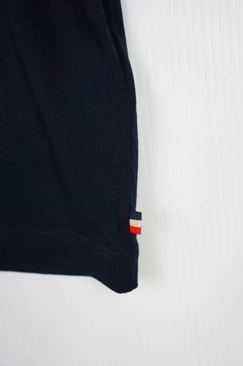 新品同様 希少モデル 国内正規品 モンクレール/ Tシャツ サイズS 刺繍特大ロゴ 最新認証タグ付(管理番号H19)_画像4