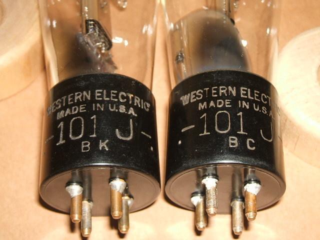 WESTERN ELECTRICの通信用直熱3極管 101J(=101F) ナス管2本セット_画像9