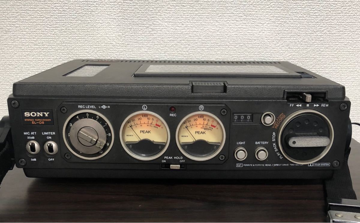 SONY STEREO TAPECORDER EL-D8 エルカセットデンスケ [通電確認済み]
