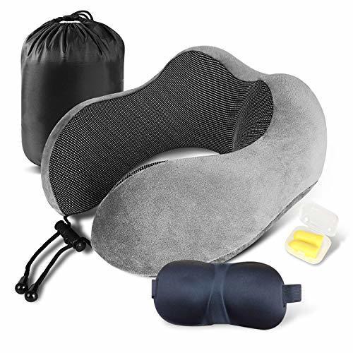 ●激安大売り● 限定1人1点! LOVEUR ネックピロー 低反発 U型まくら『3Dアイマスク付き』飛行機 トラベルピロー 携帯枕 首枕 旅行ピロー