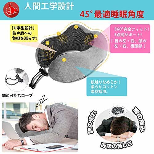 ●激安大売り● 限定1人1点! LOVEUR ネックピロー 低反発 U型まくら『3Dアイマスク付き』飛行機 トラベルピロー 携帯枕 首枕 旅行ピロー_画像2
