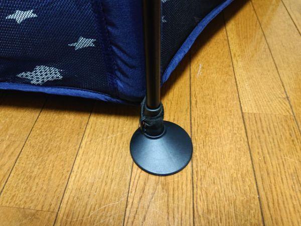 日本育児 洗えて たためる ポータブル ベビーサークル ネイビー 折りたたみ式 プレイサークル 付属品完備 軽量 コンパクト ボールプール_画像6