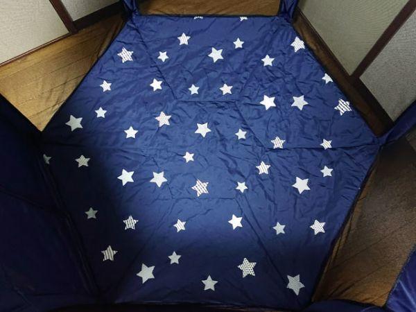 日本育児 洗えて たためる ポータブル ベビーサークル ネイビー 折りたたみ式 プレイサークル 付属品完備 軽量 コンパクト ボールプール_画像7
