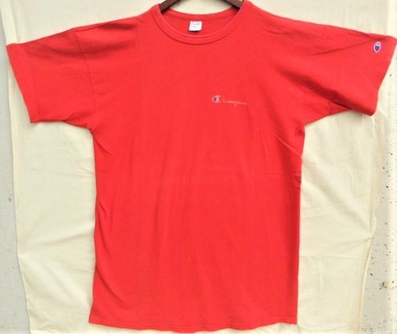 ビンテージ 70s80s champion チャンピオン Tシャツ 初期1st 旧タグ旧ロゴ OLDプリント 目玉 トリコタグ バータグ ランタグ 後付け 単色