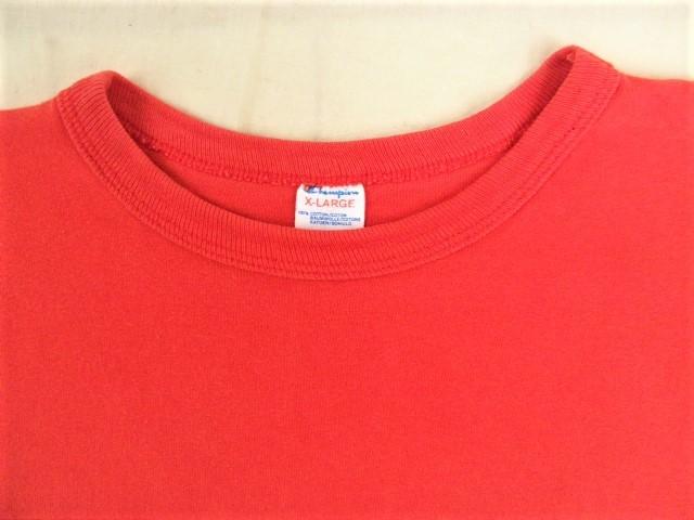 ビンテージ 70s80s champion チャンピオン Tシャツ 初期1st 旧タグ旧ロゴ OLDプリント 目玉 トリコタグ バータグ ランタグ 後付け 単色_画像3