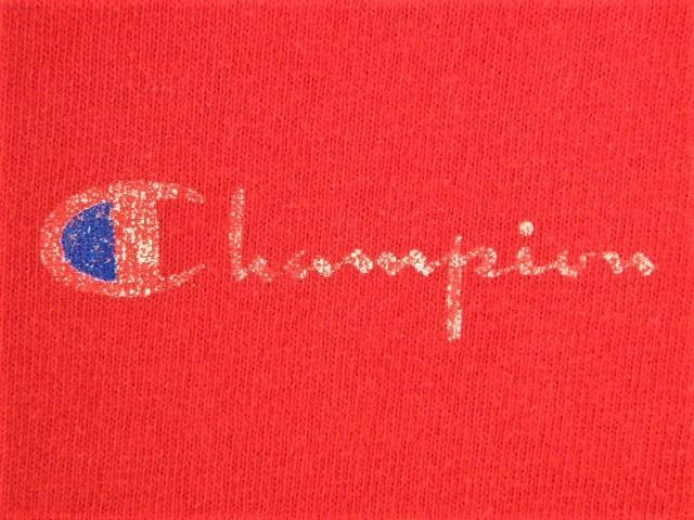 ビンテージ 70s80s champion チャンピオン Tシャツ 初期1st 旧タグ旧ロゴ OLDプリント 目玉 トリコタグ バータグ ランタグ 後付け 単色_画像7