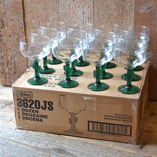Libbey マルガリータ サボテングラス 12個バリューボックスセット CACTUS メキシコ USA製