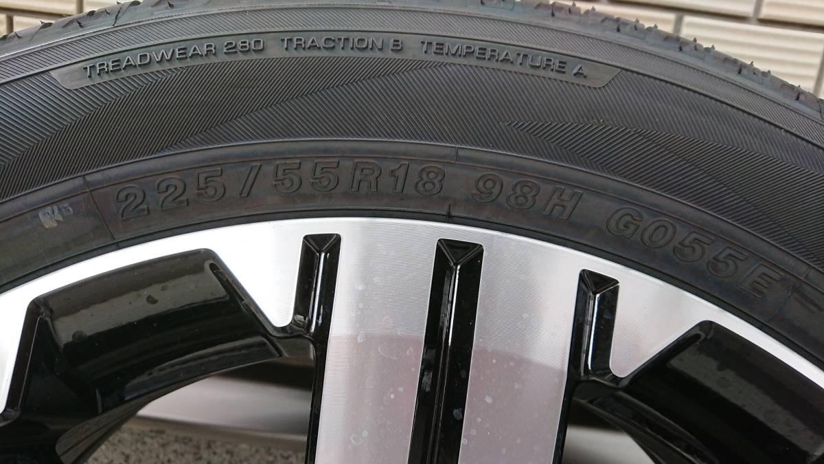 新車外し!三菱 現行型 デリカ D:5 純正 19年製造 ジオランダーSUVアルミタイヤ4本セット_画像3