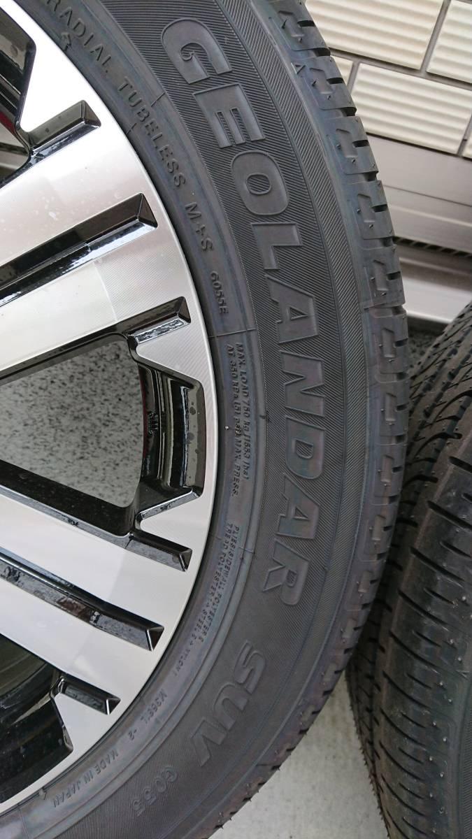新車外し!三菱 現行型 デリカ D:5 純正 19年製造 ジオランダーSUVアルミタイヤ4本セット_画像4