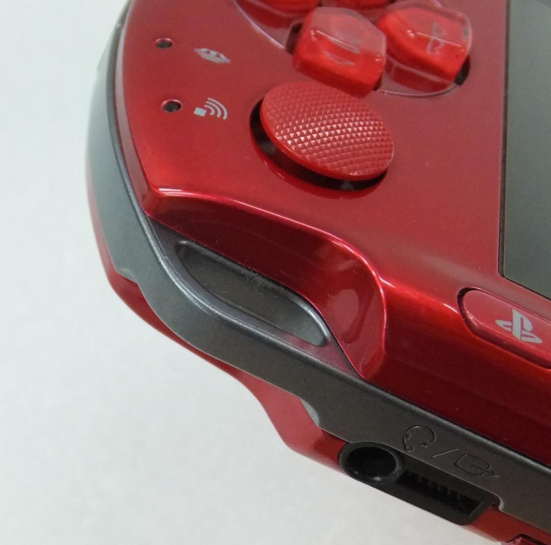 美品! 1円スタート PSP-3000 本体 レッド_画像5