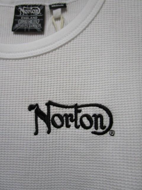 新品!(S02)Norton タンクトップ・白(ノートンモーターサイクルノースリーブUK英国旧車バイクオートバイ)_画像4