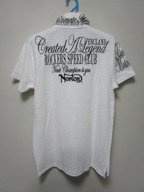 新品!(P01)Norton 半袖ポロシャツ(ノートンモーターサイクルUK英国旧車バイクオートバイ)