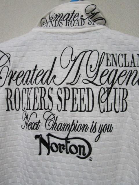新品!(P01)Norton 半袖ポロシャツ(ノートンモーターサイクルUK英国旧車バイクオートバイ)_画像2