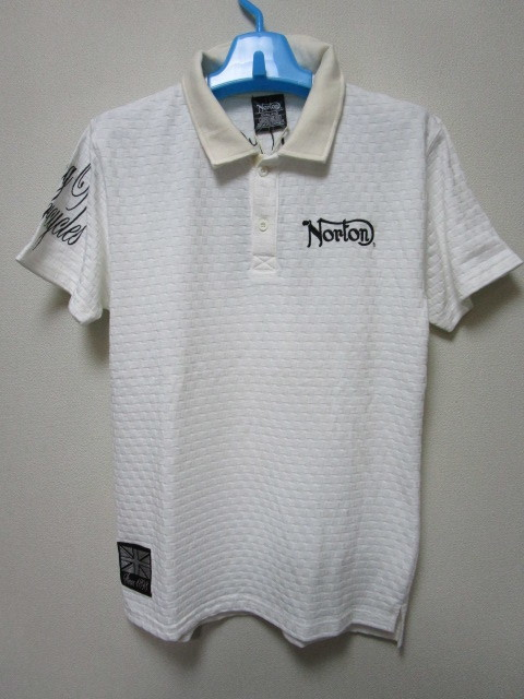 新品!(P01)Norton 半袖ポロシャツ(ノートンモーターサイクルUK英国旧車バイクオートバイ)_画像3