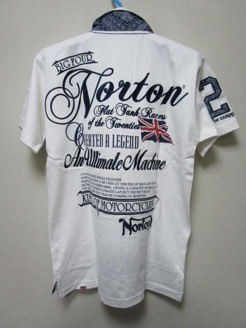 新品!(P04)Norton 半袖ポロシャツ(ノートンモーターサイクルUK英国旧車バイクオートバイ)
