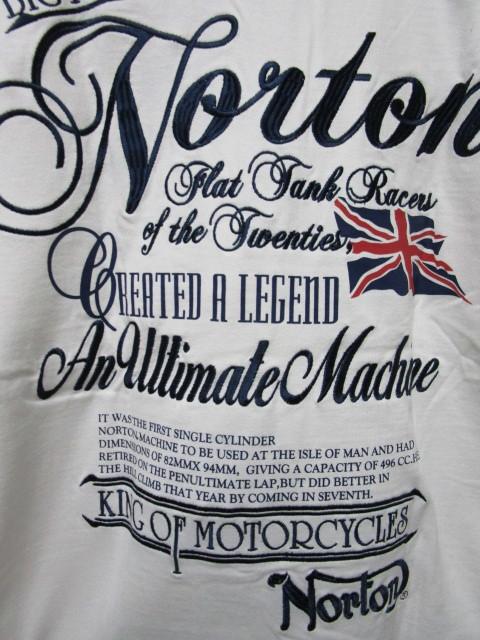 新品!(P04)Norton 半袖ポロシャツ(ノートンモーターサイクルUK英国旧車バイクオートバイ)_画像2
