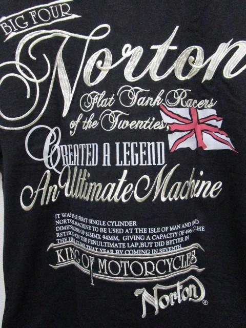 新品!(P05)Norton 半袖ポロシャツ(ノートンモーターサイクルUK英国旧車バイクオートバイ)_画像2