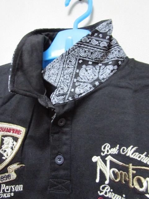 新品!(P05)Norton 半袖ポロシャツ(ノートンモーターサイクルUK英国旧車バイクオートバイ)_画像5