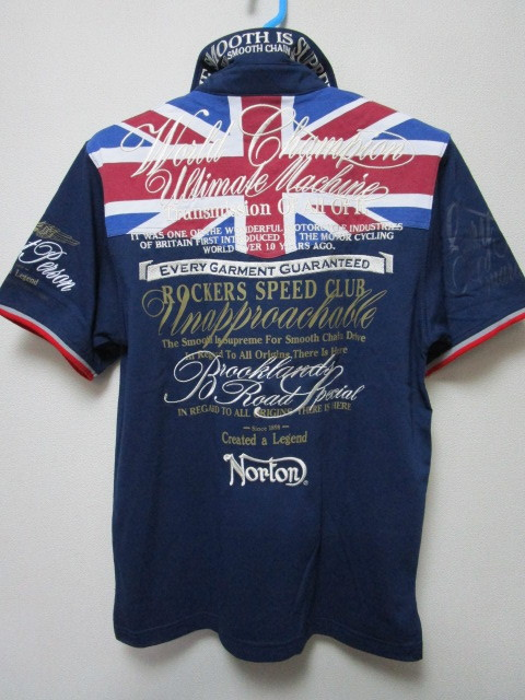 新品!(P09)Norton 半袖ポロシャツ(ノートンモーターサイクルUK英国旧車バイクオートバイ)