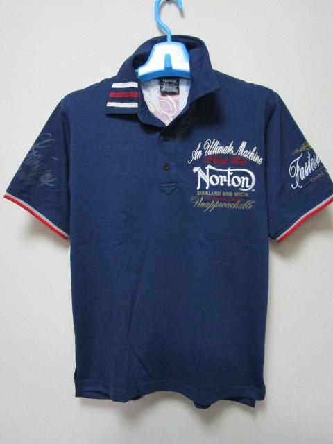 新品!(P09)Norton 半袖ポロシャツ(ノートンモーターサイクルUK英国旧車バイクオートバイ)_画像4