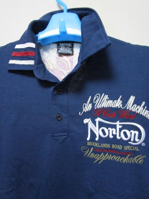 新品!(P09)Norton 半袖ポロシャツ(ノートンモーターサイクルUK英国旧車バイクオートバイ)_画像5