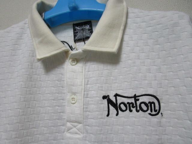 新品!(P01)Norton 半袖ポロシャツ(ノートンモーターサイクルUK英国旧車バイクオートバイ)_画像4