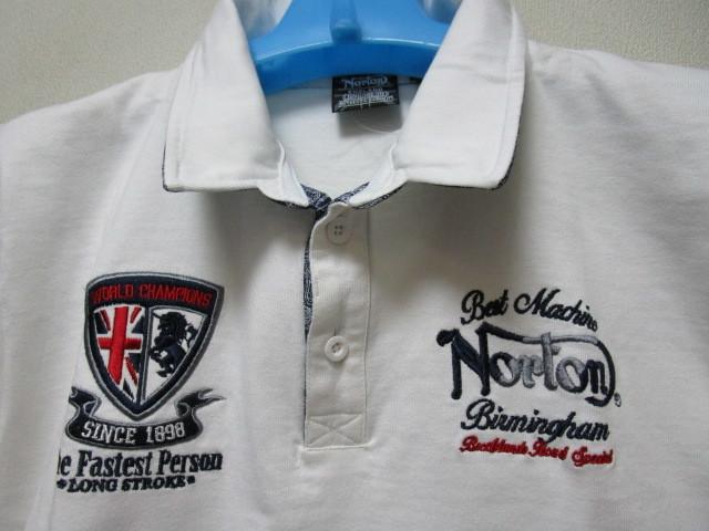 新品!(P04)Norton 半袖ポロシャツ(ノートンモーターサイクルUK英国旧車バイクオートバイ)_画像4