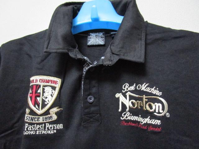 新品!(P05)Norton 半袖ポロシャツ(ノートンモーターサイクルUK英国旧車バイクオートバイ)_画像4
