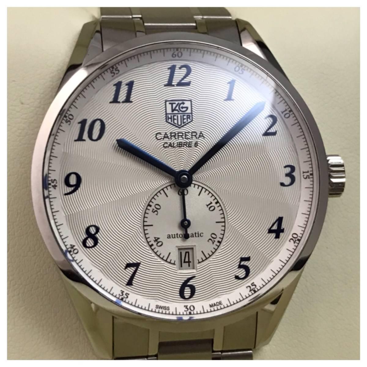 付属品全部付き☆新品同様美品のタグホイヤー時計カレラ・キャリバー6☆WAS2112☆