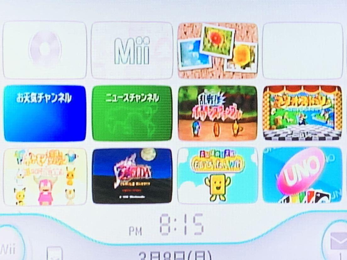任天堂 Wii 白(シロ) 本体 蓋なし ソフト6本内蔵 UNO/ゼルダの伝説時のオカリナ/もじぴったんWii/マリオストーリー/ポケモンダンジョン