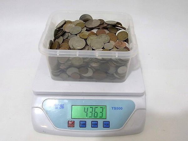 1円 外国銭 外国硬貨 未選別 約3.9kg 大量おまとめ 古銭 旧硬貨 アメリカ/ヨーロッパ/CCCP/アジア
