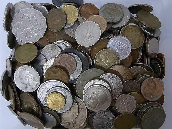1円 外国銭 外国硬貨 未選別 約3.9kg 大量おまとめ 古銭 旧硬貨 アメリカ/ヨーロッパ/CCCP/アジア_画像3
